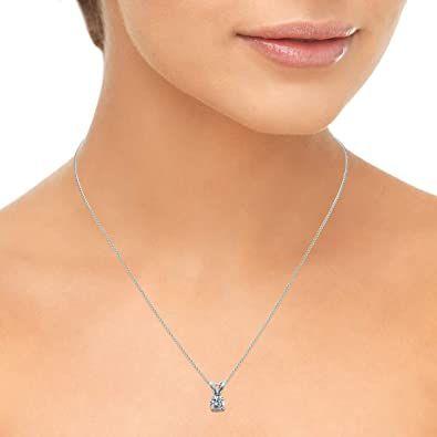 1 Carat Diamond Necklace In 2020 Solitaire Diamond Pendant Diamond Pendant Solitaire Pendant