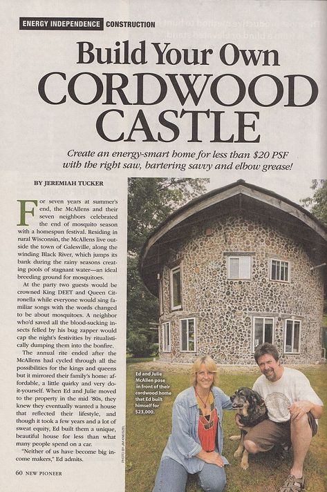 New Pioneer article page one.  See the rest at http://cordwoodconstruction.wordpress.com/2012/08/11/cordwood-article-in-new-pioneer-magazine-fall-2012-issue/