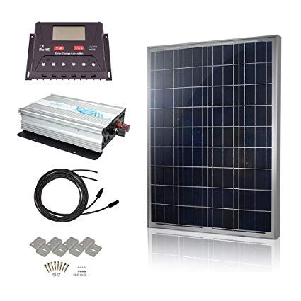 Hqst Solar Panel Power Kit 100watt 100w Polycrystalline Solar Panel With 30a Controller And 1000w 12v Sine Wave Inverter Rv Boat Off Grid Kit Review Solar Panels Solar Roof Solar Panel