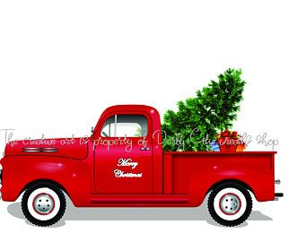 Christmas Commercials With Dogs And Trucks 2020 Large Red Christmas Truck Sign /Wooden Red Truck /Christmas Truck