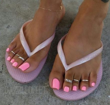 Pedicure Dark Skin Shades 65 Ideas Baby Pink Nails Pink Toes Pink Toe Nails