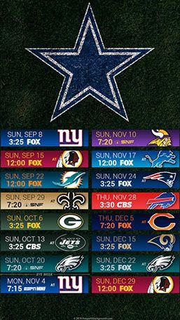 ba9ea174 Dallas Cowboys 2019 Mobile Field NFL Schedule Wallpaper | Dallas ...