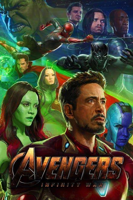Avengers Infinity War Bioskop Kanvas Asli