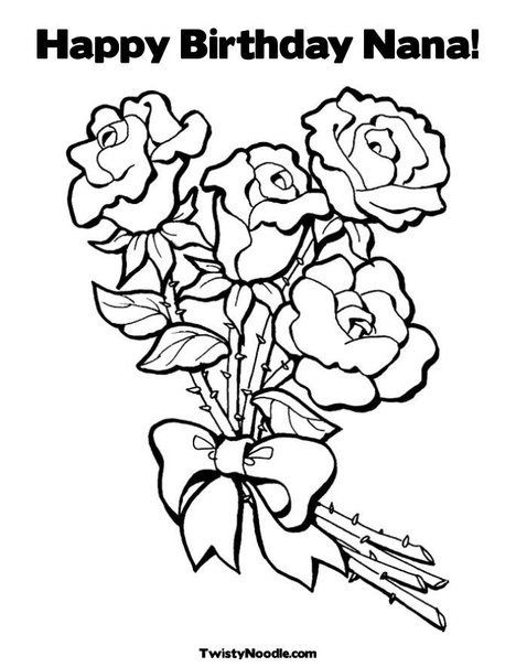 Happy Birthday Nana Coloring Pages Mothers Day Coloring Pages Mom Coloring Pages Birthday Coloring Pages