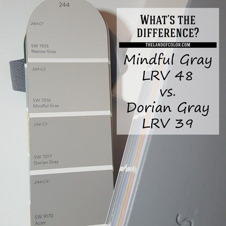 Mindful Gray Sw 7016 And Dorian Gray Sw 7017 How Are They Different Mindful Gray Sherwin Williams Colors Gray Paint Colors Sherwin Williams