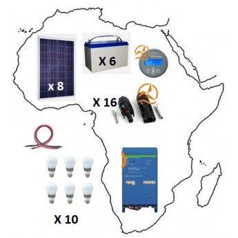 Kit Hybride Complet Solaire Et Eolien 4 000 A 8 500 Wh Tres Haute Puissance Solaire Installation Solaire Et Energie Solaire