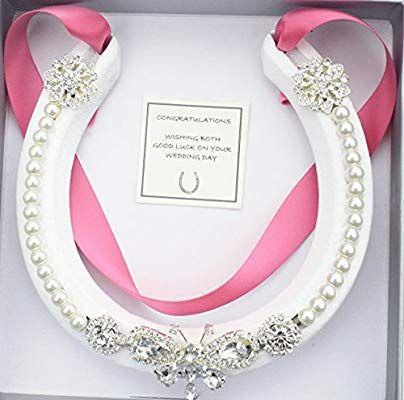 Lucky Real Horseshoe Bridal Wedding Gift Beauty Pink Amazon Co