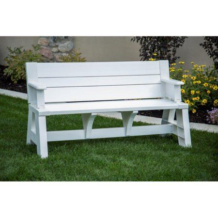 Premiere Products 5rcat Resin Convert A Bench Walmart Com Convert A Bench Outdoor Bench Outdoor Glider