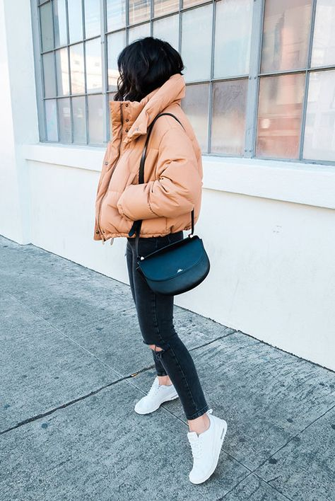 15+ Cozy & Chic Ways To Try The Puffer Jacket Trend   Be Daze Live