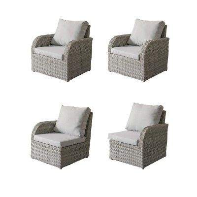 Marvelous Brisbane 4Pc Resin Wicker Loveseat And Chair Patio Set With Alphanode Cool Chair Designs And Ideas Alphanodeonline