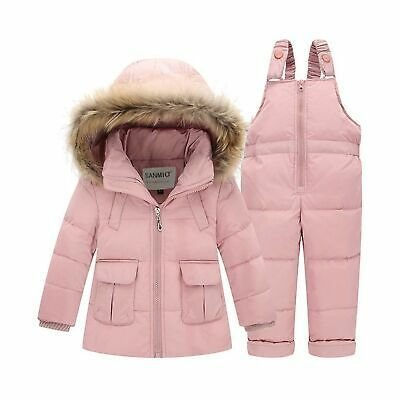 Kids Hooded Jacket Boys Girls Snowsuit Winter Coat Outfits Puffer Jackets Fashion Outwear Clothes for Baby 6 Months 5 Years