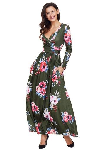 Letnia Sukienka W Kwiaty Dluga Boho Wiosna Lato 7233641575 Oficjalne Archiwum Allegro Boho Maxi Dress Floral Dress Casual Long Sleeve Maxi