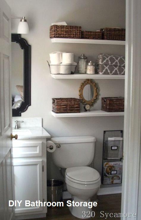 New Diy Bathroom Storage Ideas In 2020 Bathroom Shelf Decor Diy Bathroom Small Bathroom Decor