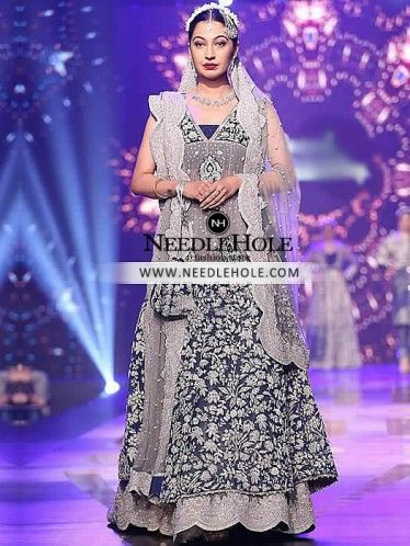 Marvelous Asian bridal gown sharara for beautiful brides in UK.This Indian Pakistani wedding dress has magnificent embellishments, Free delivery worldwide