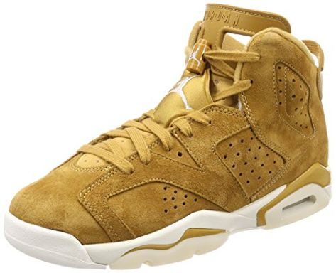 Nike Air Jordan 6 Retro Bg Big Kids Basketball Shoes Golden