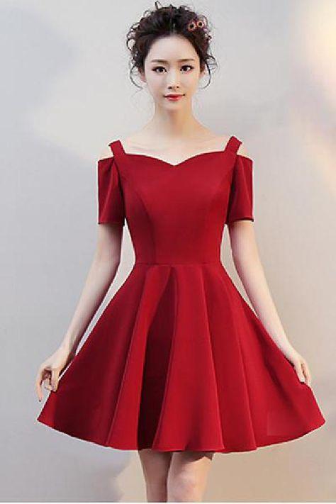 61221e7cfe671 Burgundy Homecoming Dresses, Prom Dress For Cheap, Homecoming Dresses, Prom  Dresses, Wedding Dresses #Wedding #Dresses #Homecoming #Burgundy #Prom # Dress ...