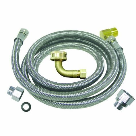 Watts D60u Universal Dishwasher Kit With 3 4 Inch Fgh El Stainless Steel 60 Inch By Watts 12 24 Stainless Steel Dishwasher Portable Washer Dishwasher Hose