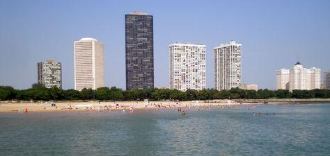 Beach Day Chicago Beach Beach San Francisco Skyline