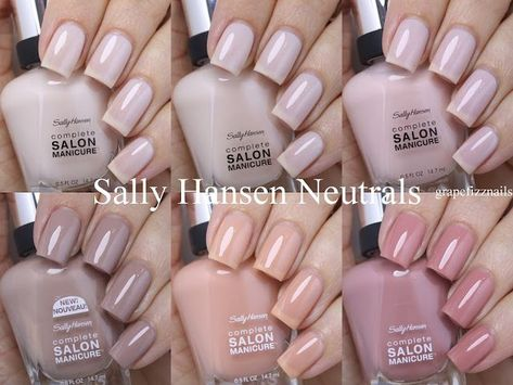 I have 6 Sally Hansen Complete Salon Manicure polishes to share with you today and they are all neutrals for Summer! The 88 shades in the Complete Salon Manicure collection