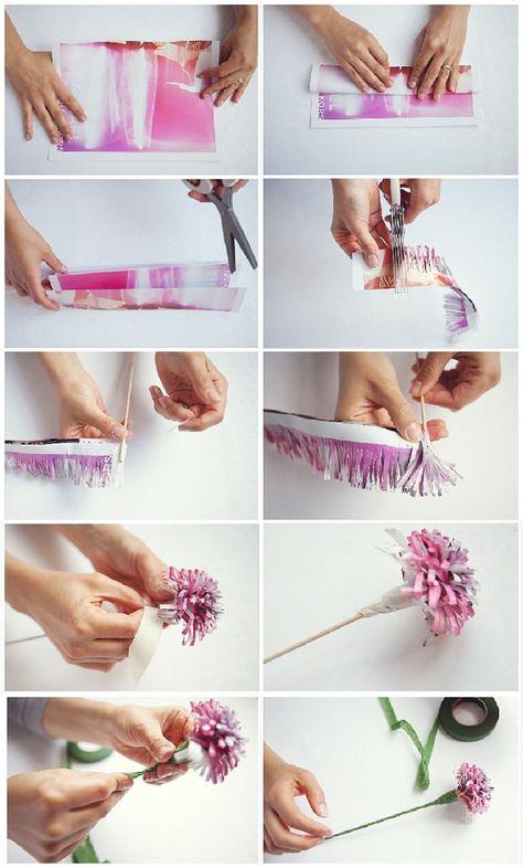 A paper flower DIY tutorial (part 1)