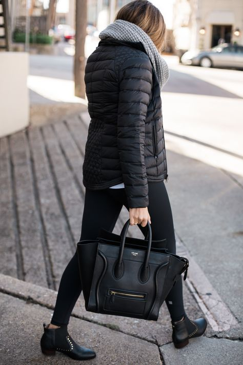 street style all black outfit