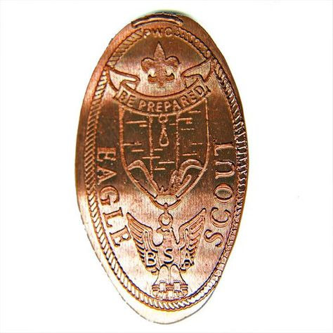 Boy Scouts of America Eagle Scout Elongated Coin Trading
