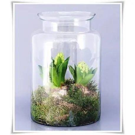 Szklany słoik dekoracyjny
