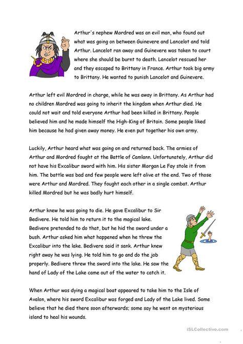king arthur research paper topics