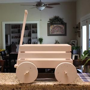 Wooden Wagon For Wedding For Babies 4 Yrs And Younger Ring Bearer Flower Girl Farm Wagon Excellent Photo Prop Shown In Tin White In 2020 Wooden Wagon Wagon For Wedding Wheel Decor