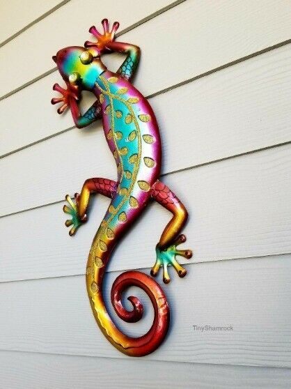 Large Gecko Wall Art Tropical Lizard 26 Metal Sculpture Outdoor