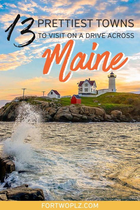 Roadtripping through Maine from Portland Maine to Bar Harbor? Discover these under-the-radar seaside towns to see a much different aspect of Maine! Portland Maine, Maine Road Trip, East Coast Road Trip, Road Trips, Cool Places To Visit, Places To Go, Good Places To Travel, Vacation Places In Usa, Fall Vacations
