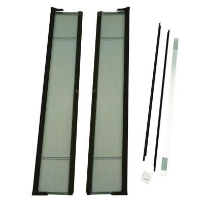 Instant Screen 120 In X 96 In Black Garage Screen Door With Hardware And Roll Up Accessory Ds83939 Screen Door Retractable Screen Retractable Screen Door