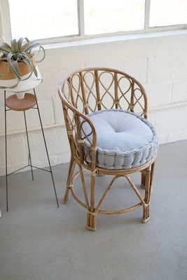 what a duo this stylish bamboo chair