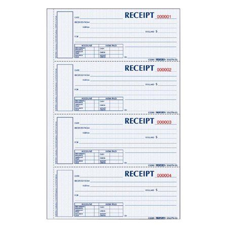 Rediform Office Products Hardcover Numbered Money Receipt Book 6 7 8 X 2 3 4 Three Part 200 Forms Walmart Com In 2021 Receipt Template Hardbound Resume Design Template