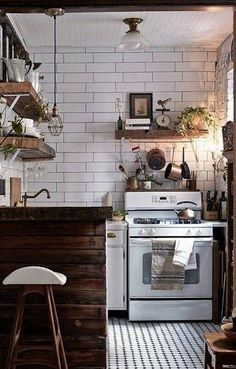 It seems like the double sink is wasted space but overall, I like this  160sq ft tiny house on wheels. | Tiny Homes and She-Sheds | Pinterest |  Tiny house on wh…