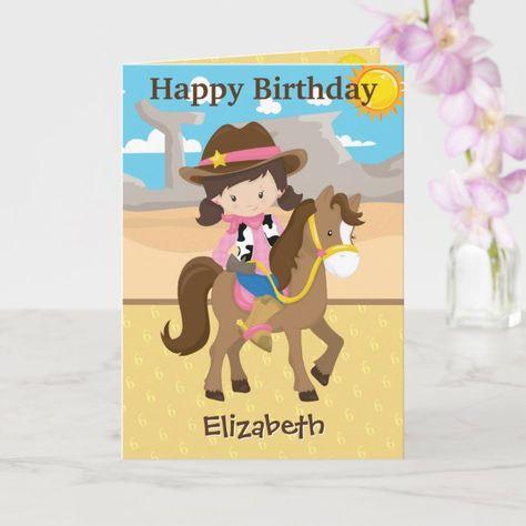 Howdy Little Cowgirl | Girls Birthday Card