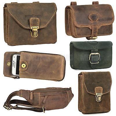 Greenburry Vintage Gürteltasche 327-30 Oliv Hüfttasche Bauchtasche Tasche Leder