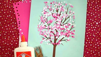 Bubble Wrap Print Cherry Blossom Tree Kid Craft Idea For Spring In 2020 Blossom Trees Cherry Blossom Tree Diy Resin Crafts