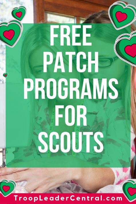 Check out this list of free patches that your Scout can earn. Did I mention that… Check out this list of free patches that your Scout can earn. Did I mention that these patch programs were completely FREE! Cadette Girl Scout Badges, Girl Scout Brownie Badges, Junior Girl Scout Badges, Girl Scout Juniors, Cadette Badges, Brownie Scouts, Girl Scout Daisy Activities, Girl Scout Crafts, Scout Mom