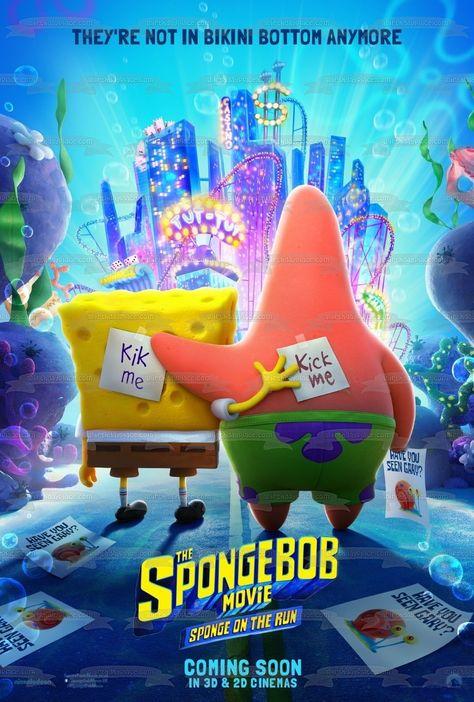 The Spongebob Movie: Sponge on the Run Patrick Kick Me Signs Edible Cake Topper Image ABPID52040