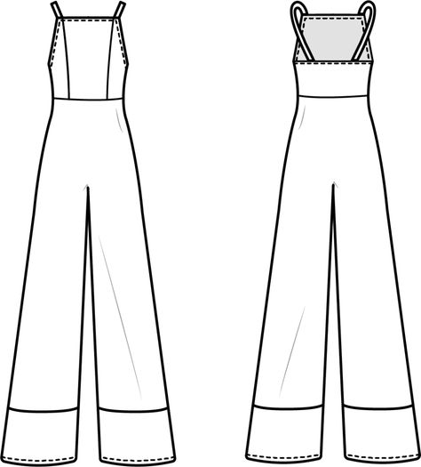 Tie Front Jumpsuit Pattern Hack - Free Sewing Pattern - Mood Sewciety, Perhaps you are a starter sewist searching for some easy sewing projects, or possibly you are just , Skirt Patterns Sewing, Sewing Patterns Free, Free Sewing, Clothing Patterns, Pattern Sewing, Skirt Sewing, Fashion Patterns, Vogue Patterns, Patterns For Dresses