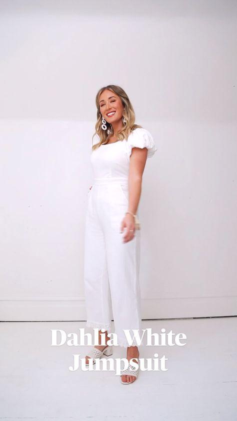 Dahlia White Jumpsuit