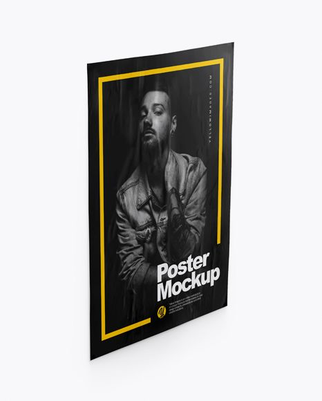 Download Free Online Poster Mockup Yellowimages