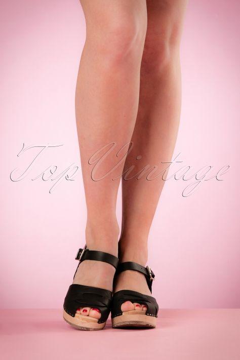 c05b3a5a4361f Lotta from Stockholm High heel Peep Toe Clogs Black 421 10 20978 03082017  004W