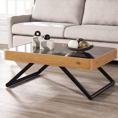 Union Rustic Bergen Coffee Table In 2020 Wayfair Living Room Furniture Contemporary Coffee Table Coffee Table Wayfair