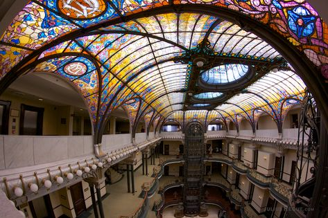 Glass Roof Art Nouveau Stained Glass Canopy Outdoor Canopy Architecture
