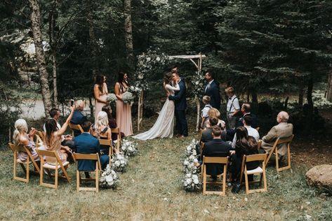 wedding boho Intimate Boho Wedding at Olympic National Park, WA Small Intimate Wedding, Intimate Weddings, Intimate Wedding Reception, Private Wedding, Wedding Aisles, Wedding Backdrops, Ceremony Backdrop, Small Wedding Ceremonies, Ceremony Decorations
