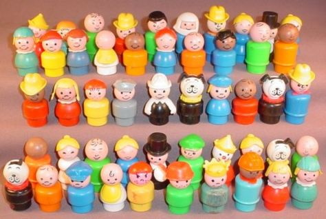 Fisher Price Little People ....I still have a bunch of these, including some older wooden ones, and some nursery furniture.