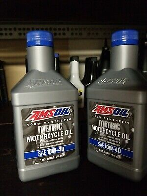 Ebay Advertisement Amsoil Metric 10w 40 Synthetic Motorcycle Oil