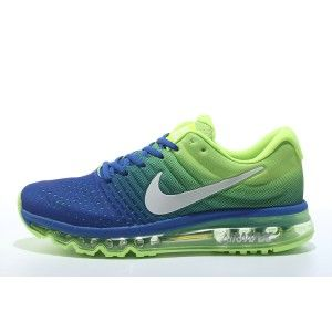 Get This Nike Air Max 2017 Green Dodger Blue Running Sneakers Cheap Sale